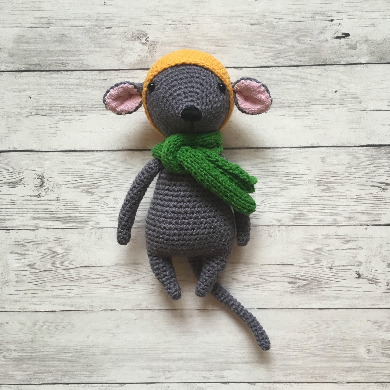 Häkeln Sie Amigurumi Maus ausgestopfte Maus Tier Maus