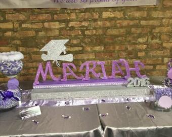 STYROFOAM individual   graduation  Table décor  signs  centerpiece