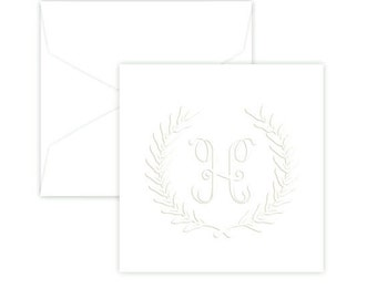 Harvest Wreath Monogrammed Gift Enclosure - Set of 50