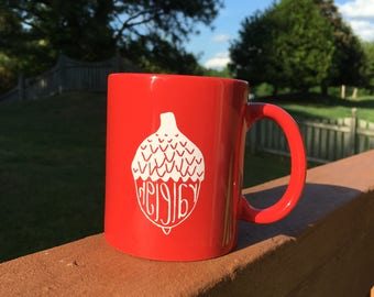raleigh coffee mug - reverse design!