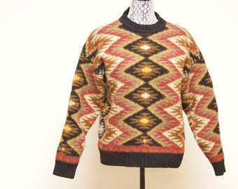 Vintage aztec wool sweater  by New River Co