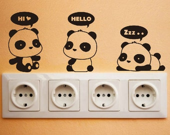 Cute Panda Wall Decal DIY Wall Sticker Wall Decor Vinyl Stickers Wall  Design Window Decals Door