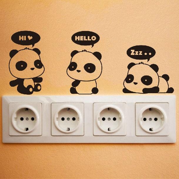 Cute Panda Wall Decal DIY Wall Sticker Wall decor Vinyl