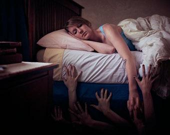 Monsters Under the Bed - Creepy - Conceptual Photography - Fine Art - Portrait