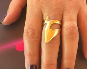 Metal ring, Gold filled ring, adjustable ring,brass ring