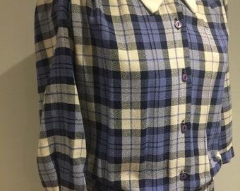 1970s Checked Shirt Dress, Workwear, Preppy