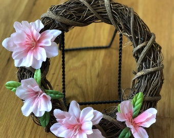 Pink mini wreath