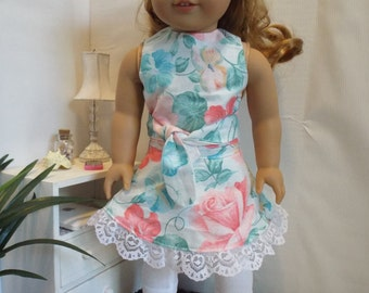 "Floral Romance-3 Piece Outfit-Fits 18"" dolls LIKE American Girl"