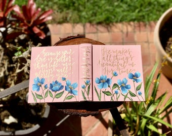Floral Hand Painted Bible // 'Beautiful'