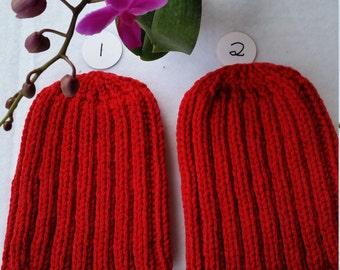 Wool Cap, Watchman cap, beanie cap, ribbed cap, red cap, hand knit cap, wide rib cap, Christmas gift cap, Badgers football cap, Badgers cap