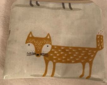 Oilcloth fox coin purse