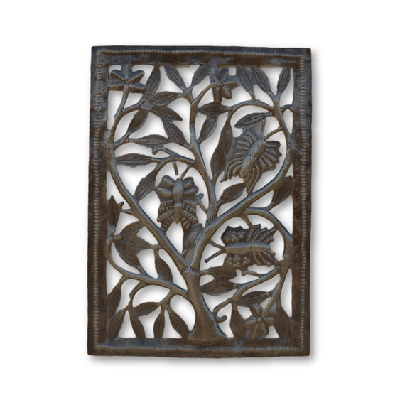 Framed Butterflies,  Handcrafted Quality Haitian Metal, One-of-a-Kind 17.5 x 12.5