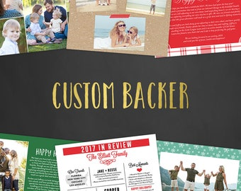Holiday Custom Backer Design, Christmas Cards, Christmas Party Invitations, Holiday Party Invitations, Year in Review, Christmas Newsletter