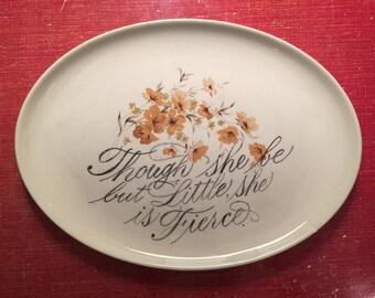 Little and Fierce Altered Vintage Platter