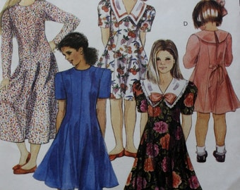 Girls Fitted Dress Pattern McCalls 6251 Sewing Pattern