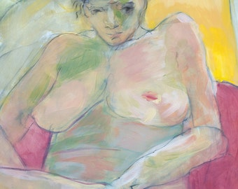 Figurative painting - Anna in Sunshine