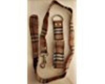 Original Burberry Martingale Greyhound collar and leash