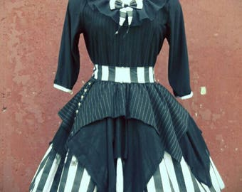 VK Freakshow Babydoll Jackie skellington Halloween costume dress plus size