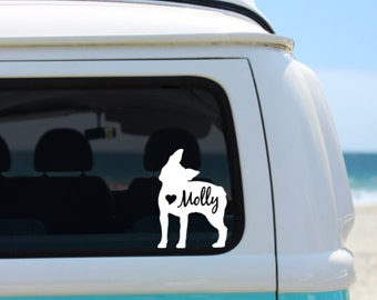 Boston Terrier  Decal | Personalized Boston Terrier decal | Car Decal | Laptop Decal | Notebook Decal | Window Decal