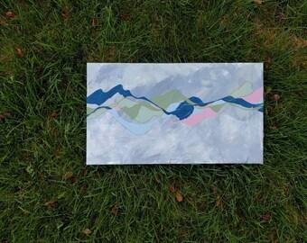 Abstract Mountain Range I: The Blues - Original Acrylic Painting