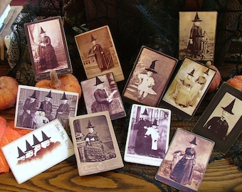 first set of witches cabinet trading cards