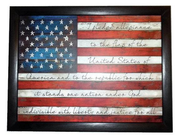 American Flag The Pledge of Allegiance Patriotic Home