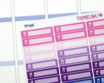 Meal Strips Planner Stickers for the Erin Condren Life Planner and more (TP166)