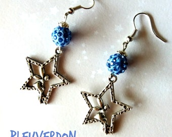 Blue Fairy and sorts earrings