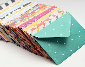 Assorted Mini Cards // Blank Cards // Gift Card Envelopes // Enclosure Cards // Love Notes // Advice Cards // Patterned Envelopes // Favors