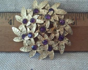 Vintage Brooch, Hydrangea Blossom