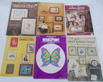 Dogs/ Cats and Butterfly Needlepoint /cross stitch patterns