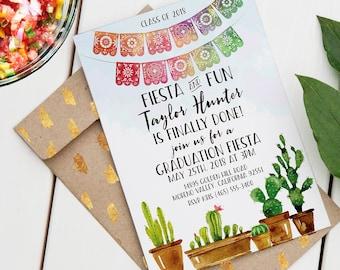 Fiesta Graduation Invitation | Editable Printable Invitation | Fiesta & Fun Design | Instant Download PDF | Custom Graduation Invite PDF