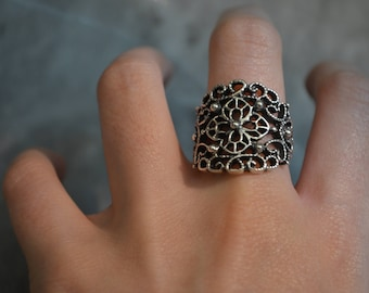 Sterling silver Ring Veronica, silver 950, fine jewelry