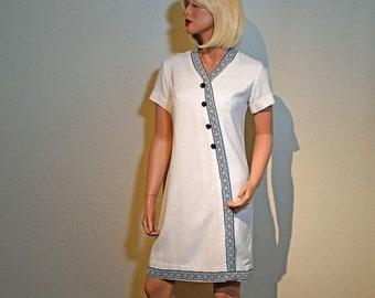 Memorial Day Sale Vintage 1950s Sherbet Originals Shift Dress - Size 4/6 - Metal Zipper