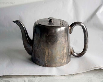 Vintage S.Hart&Co Harcourt Plate EPNS A1 Made in Sheffield England Silverplated Metal Small Kettle Retro Rustic Home Decor Display Ornament