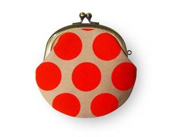 Metal frame coin purse // Ladybug
