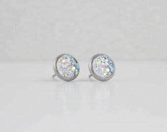 Clear Druzy Crystal Earrings | ATL-E-148