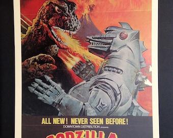 Godzilla Vs. the Cosmic Monster Vintage Movie Poster Reproduction // Kaiju // Monster Movies