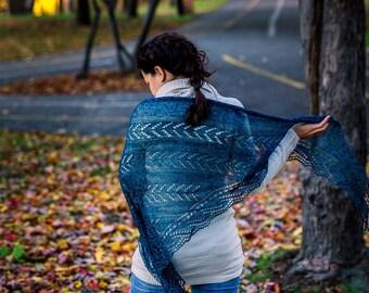 pattern knit knitting shawl lace ppdf Taiga