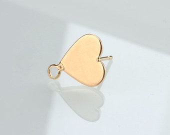 10 pcs raw brass plating gold earring    pendant finding