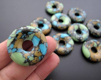 2 pieces Sea sediment donut, Focal Piece B6275