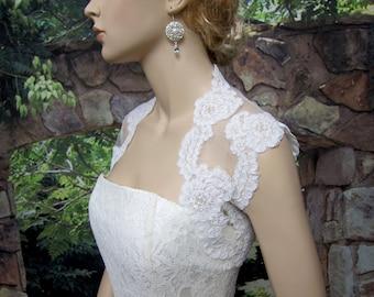 Wedding bolero, wedding jacket, lace bolero, bridal bolero, alencon lace bolero jacket