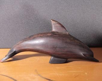 Mahogany carved dolphin
