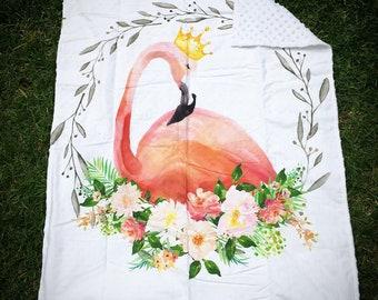 Deluxe Baby Blanket - Flamingo