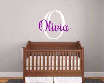 Wall Decal,Baby Name Decal,Personalized Wall Art,Circle Dot Decal, Nursery Decal, Nursery Decor, Baby Decal, Baby Wall Art, Boy,Girl,Sticker