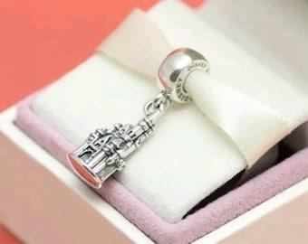 Genuine Disney Parks Exclusive Cinderella Castle Dangle Charm/With a Pandora Bag