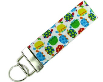 Personalized Key Chain / Key Fob Turtles With Optional Initials