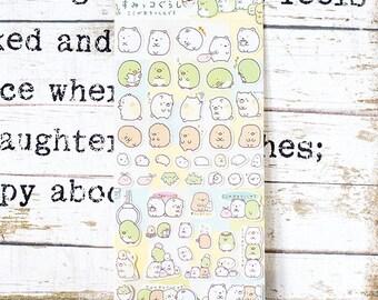 Sumikkogurashi Kawaii Stickers | Sumikkogurashi stickers set G  Life Planner, Daily Diary Journal decorations.