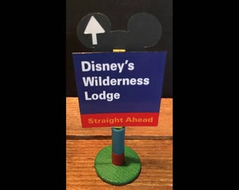handmade Disney inspired road sign Disney's Wilderness Lodge