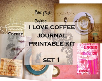 Set #1 I Love Coffee Journal Printable Kit 5.5*8